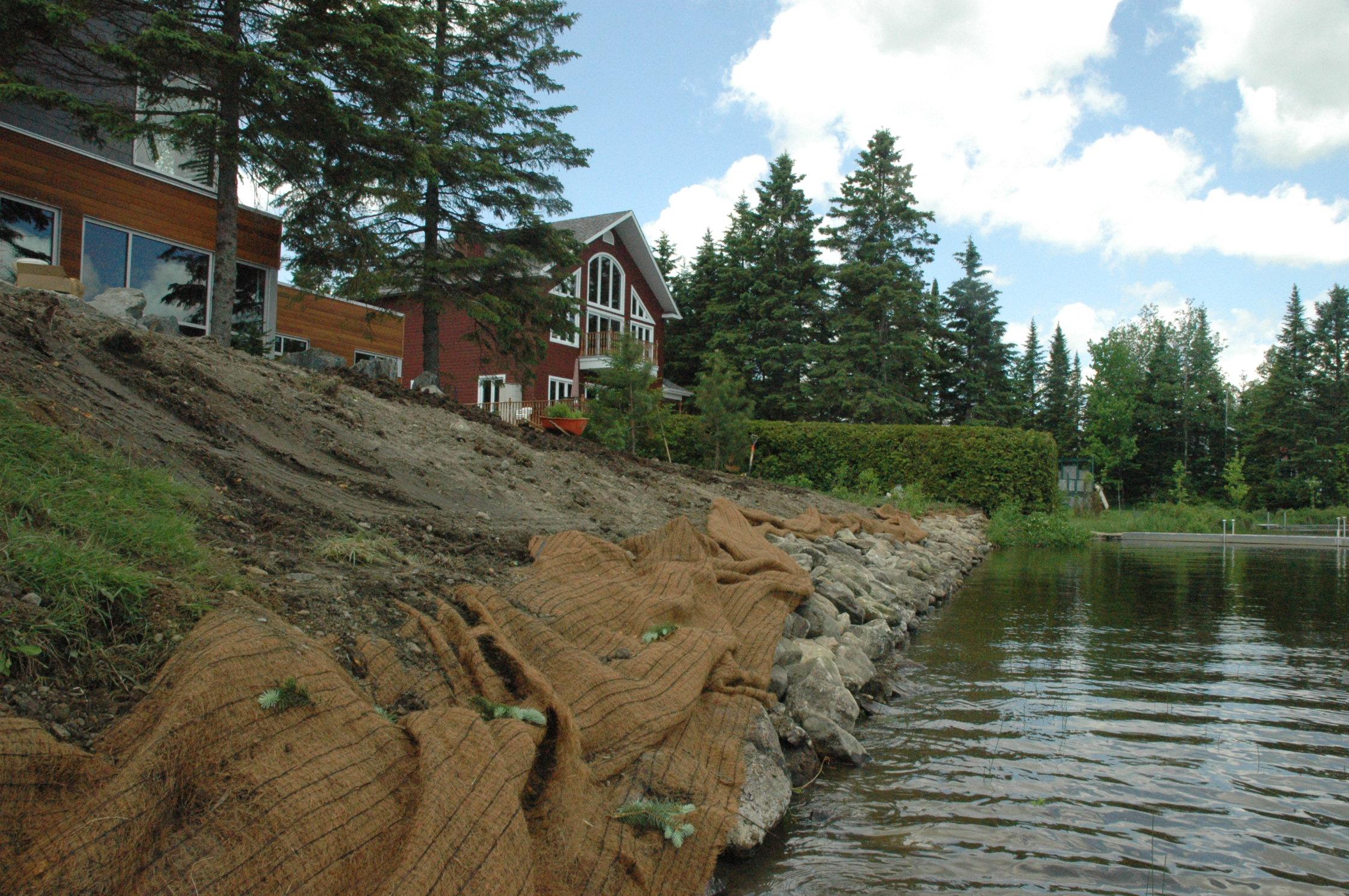 Lac du Huit pendant les travaux 3